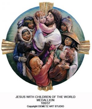 Jesus With Children Of The World