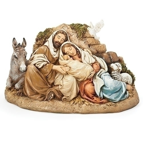 """9.5""""RESTFUL HOLY FAMILY FIG"""