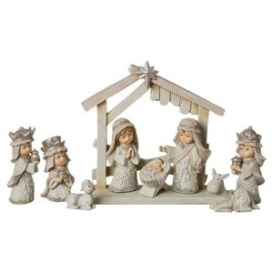"9PC ST 3""PAGEANT NATIVTY IVORY"