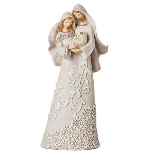 "9.5"" IVORY LACE HOLY FAMILY"
