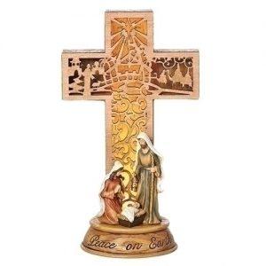 """11""""LED HOLY FAMILY CROSS FIG"""