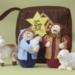 This whimsical six-piece plush nativity set is the perfect 'starter-set' for your children.  What a great way to introduce them to the story of Christmas.