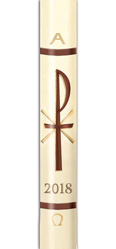 Chi Rho Paschal Candle