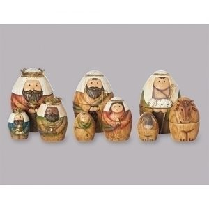"9PC ST 6"" NATIVITY NESTING BOX"