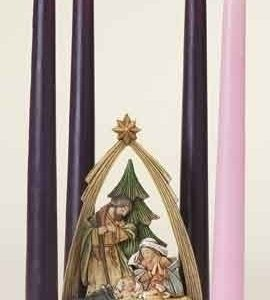 """6.25"""" ADVENT NATIVITY W/ARCH. Candles included."""