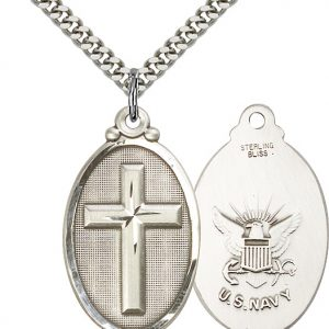 Cross / Navy Pendant