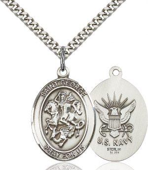 St. George / Navy Pendant