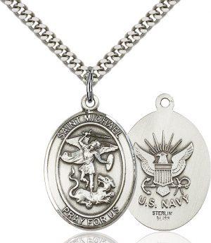 St. Michael / Navy Pendant