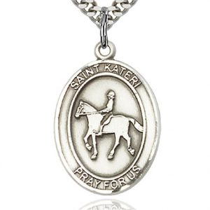 St. Kateri / Equestrian Pendant