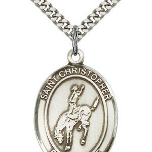 St. Christopher / Rodeo Pendant