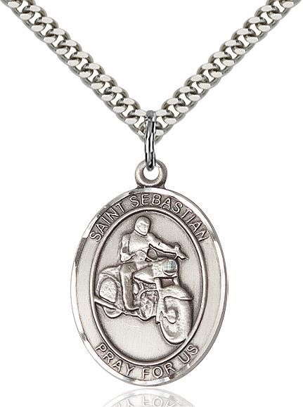 St. Sebastian / Motorcycle Pendant