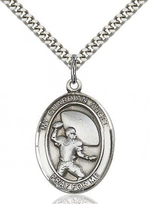 Guardian Angel / Football Pendant