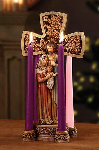 "Advent wreath - Holy Family - 14"""