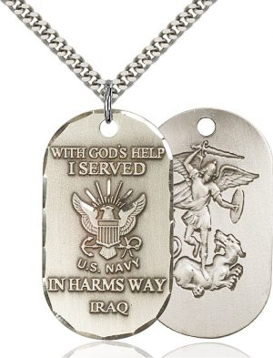 Navy Iraq Pendant