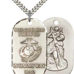 Marines Iraq/St Christopher Pendan