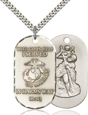 Marines Iraq/St Christopher Pendan