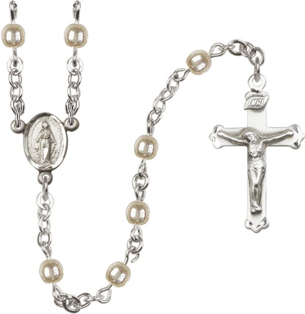 4mm Faux Pearl  Rosary