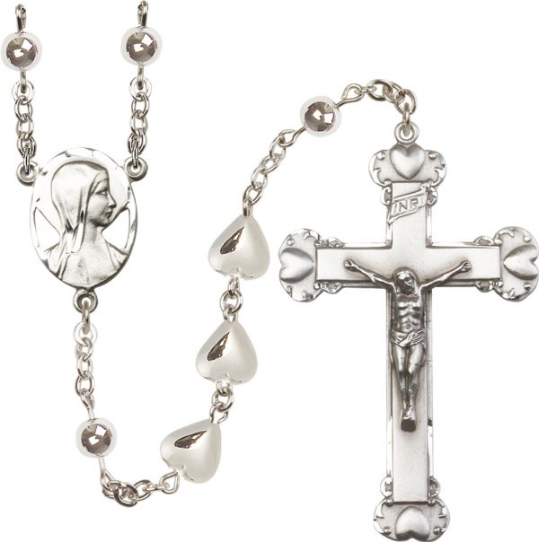 9x11mm Heart Charm  Rosary