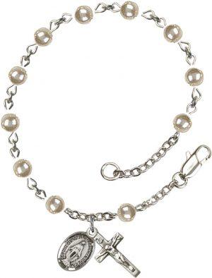 4mm Faux Pearl  Rosary Bracelet