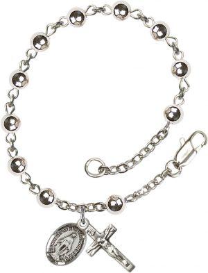 5mm Round  Rosary Bracelet