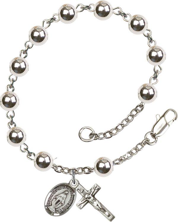 6mm Round  Rosary Bracelet