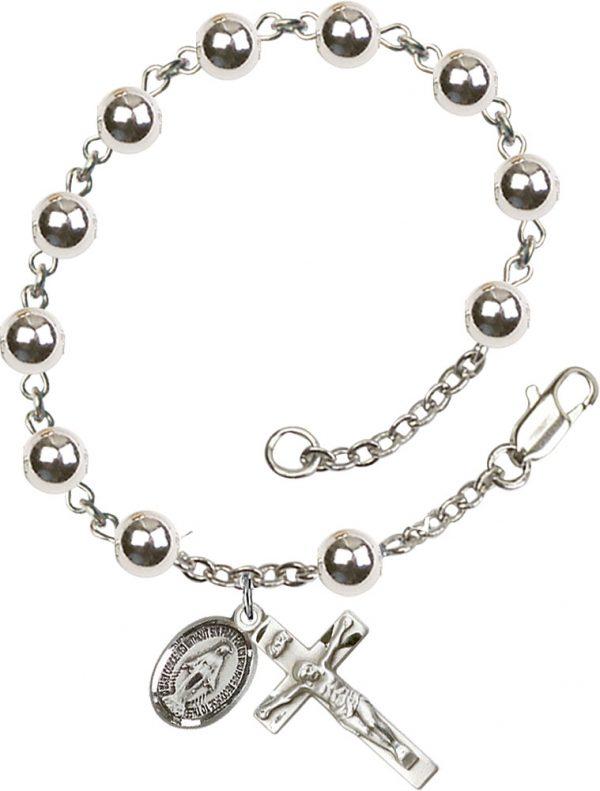 7mm Round  Rosary Bracelet
