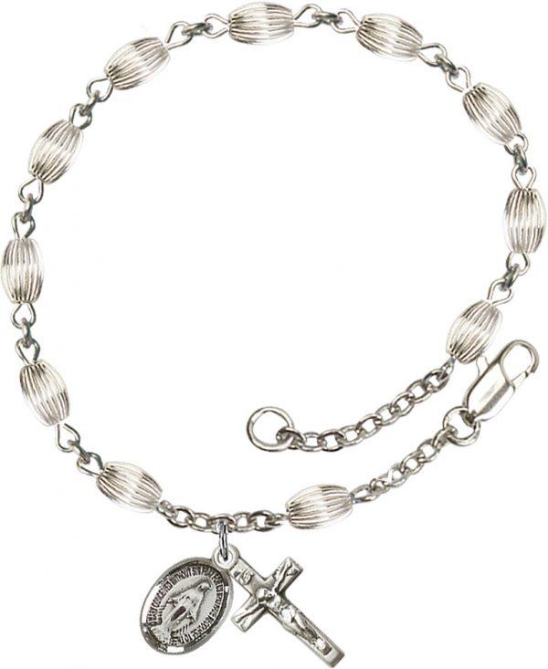 5x7mm Corregated  Rosary Bracelet