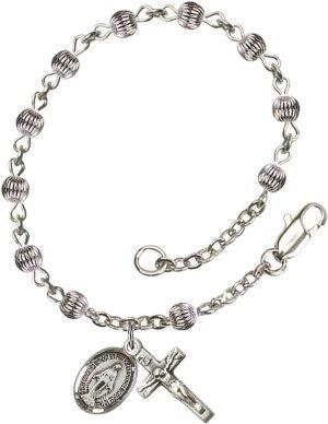 4mm Corregated  Rosary Bracelet
