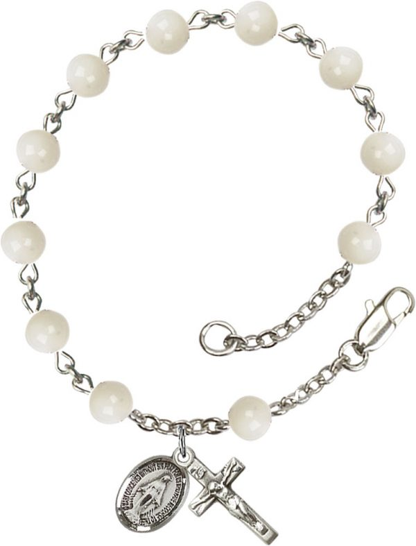 6mm Mother of Pearl  Rosary Bracelet