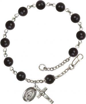 6mm Black 'Precious Stone'  Rosary Bracelet