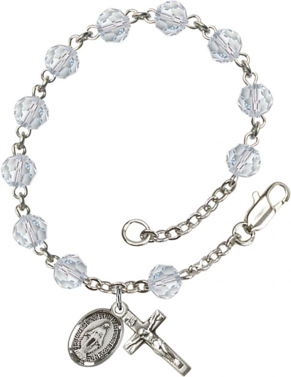 6mm Lt. Azore Swarovski  Rosary Bracelet