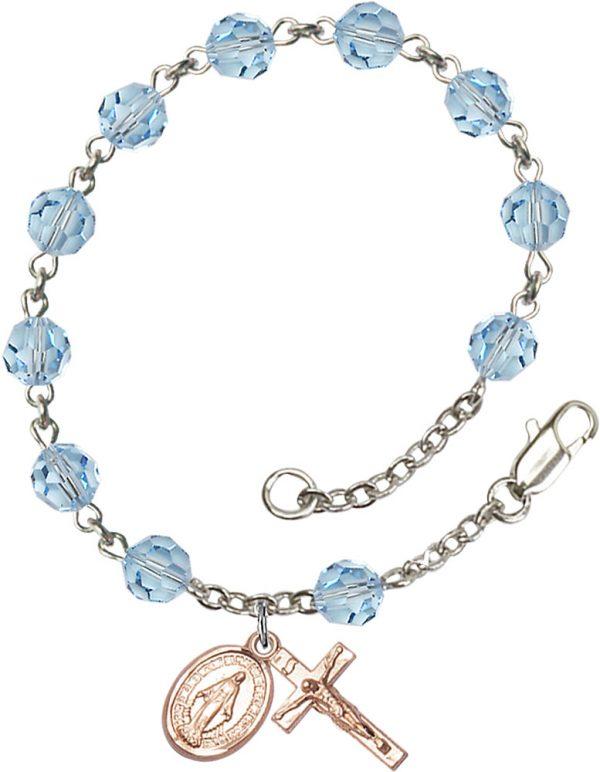6mm Alexandrite Swarovski  Rosary Bracelet
