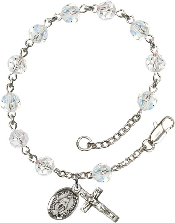 6mm Crystal Swarovski  Rosary Bracelet