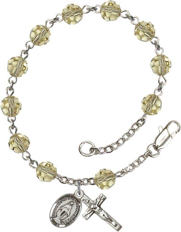 6mm Jnoquil Swarovski  Rosary Bracelet