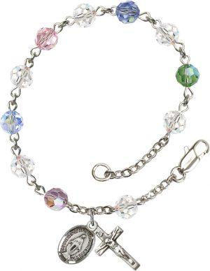 6mm Multi-Color Swarovski  Rosary Bracelet