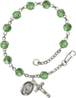 6mm Peridot Swarovski  Rosary Bracelet