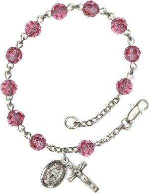 6mm Rose Swarovski  Rosary Bracelet