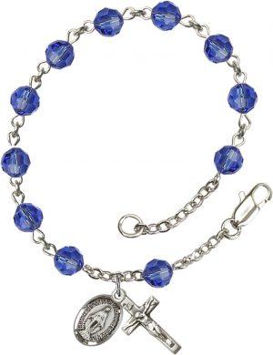 6mm Sapphire Swarovski  Rosary Bracelet
