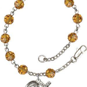 6mm Topaz Swarovski  Rosary Bracelet