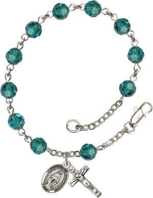 6mm Zircon Swarovski  Rosary Bracelet