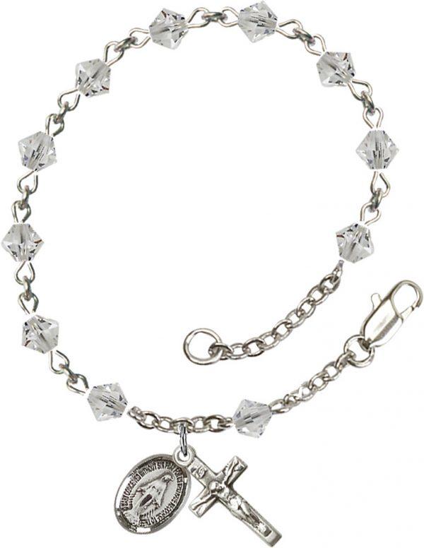 5mm Crystal Swarovski Rundell-Shaped  Rosary Brac