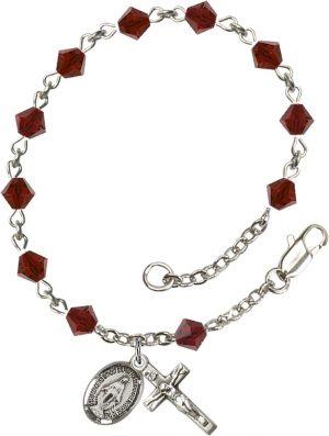 5mm Garnet Swarovski Rundell-Shaped  Rosary Brace
