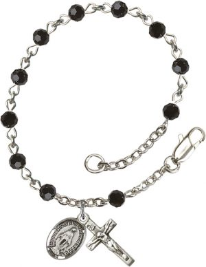 4mm Black Swarovski  Rosary Bracelet