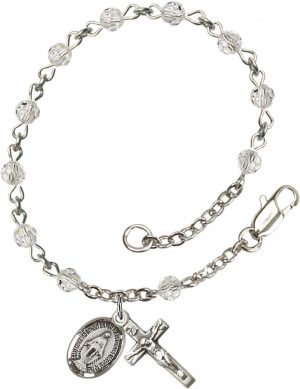 4mm Crystal Swarovski  Rosary Bracelet