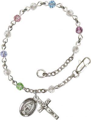 4mm Multi-Color Swarovski  Rosary Bracelet