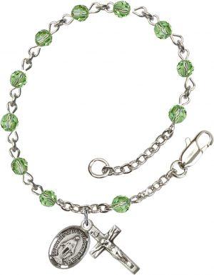 4mm Peridot Swarovski  Rosary Bracelet