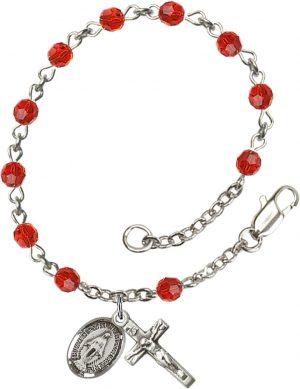 4mm Ruby Swarovski  Rosary Bracelet