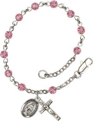 4mm Rose Swarovski  Rosary Bracelet