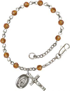 4mm Topaz Swarovski  Rosary Bracelet