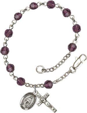 5mm Amethyst Swarovski  Rosary Bracelet